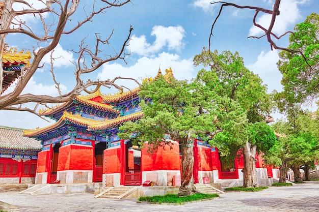 베이징 공자묘는 중국에서 두 번째로 큰 공자묘입니다. 베이징.