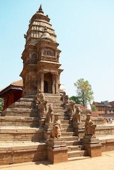 Temple of old buddhistic city. baktaphur, nepal