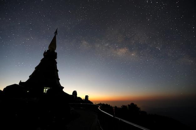 Temple in sunrise