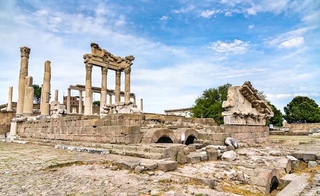 The temple of trajan an pergamon. in turkey