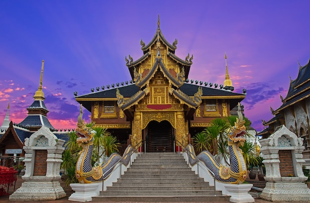 Temple wat ban-den sri muang gan, chiangmai province thailand