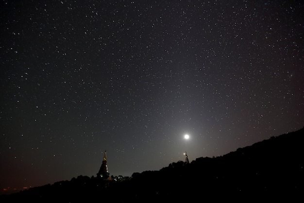 Temple with milkyway