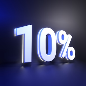 Десятипроцентный рендеринг числа