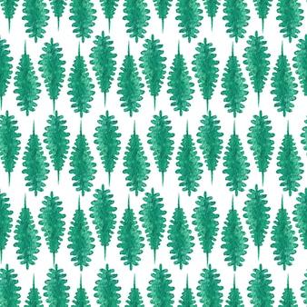 Нежный изумрудно-зеленый фон с длинными листьями папоротника