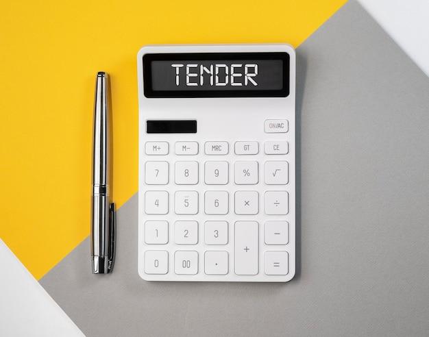 Нежное слово на концепции публичного предложения бизнеса калькулятора