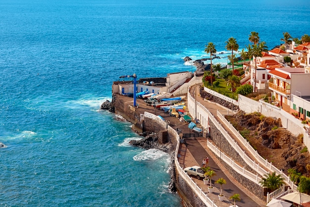 Tenerife aerial view in summer day.