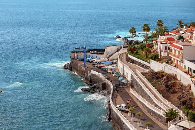Tenerife island aerial view in summer day.