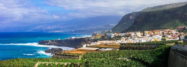 テネリフェ島-風光明媚な海岸沿いの町サンファンデラランブラ。カナリア諸島