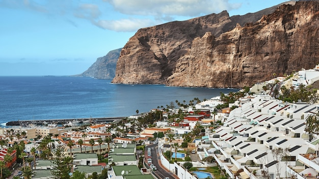 Tenerife island on a summer day panoramic landscape.