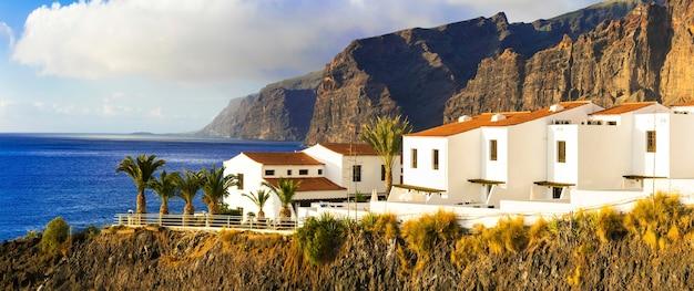 テネリフェ島-ロスギガンテスエリアの高級マンション。カナリア諸島