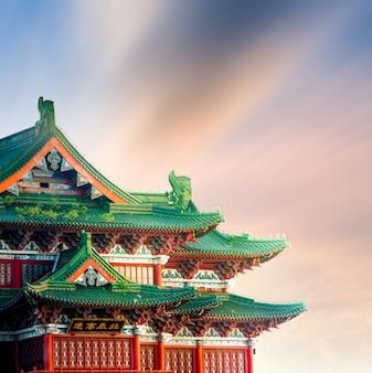 Tengwang павильон, наньчан, традиционная, древняя китайская архитектура, из дерева.