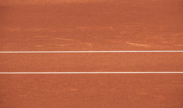 테니스 클레이 코트 근접 촬영