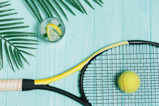 Tennis equipment for playing