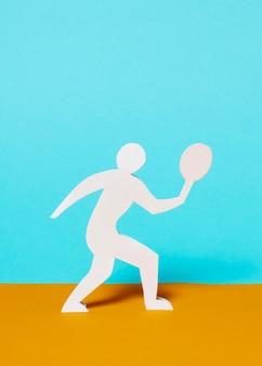 正面図の紙のスタイルのオリンピックの構成
