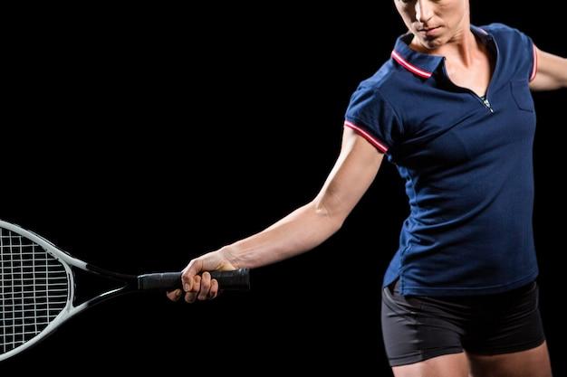 테니스 선수 라켓과 테니스