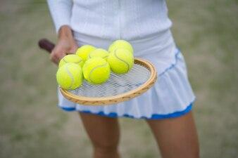 Tennisattributes, balls