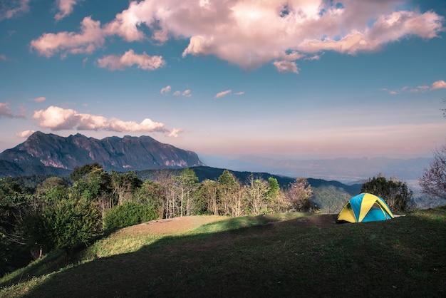マウンテンビューのテントキャンプ