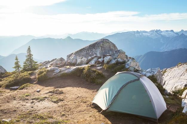 夏山図巻のテント