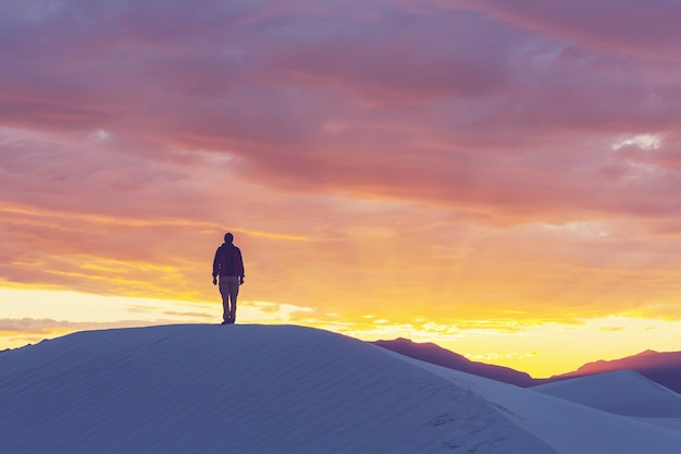 Tent in white dunes, usa