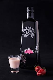 Крем текила роза клубника со стаканом