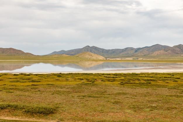 Terkhiin tsagaan lake also known as white lake, in mongolia
