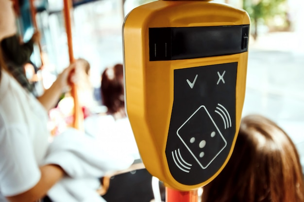 Terminal for contactless payment in public transport
