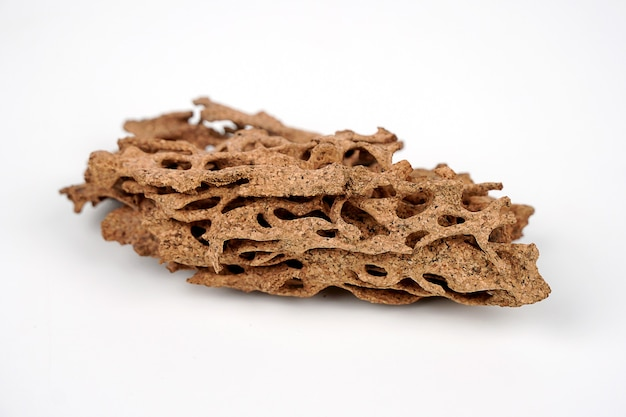 Termite nests on white background