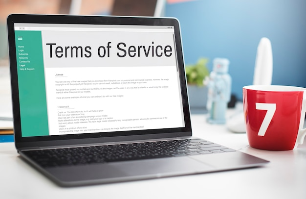 서비스 약관 규칙 정책 규정 개념
