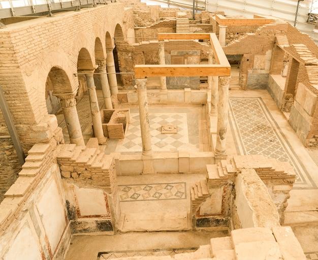 터키 이즈미르의 에베소 고대 도시의 테라스 하우스
