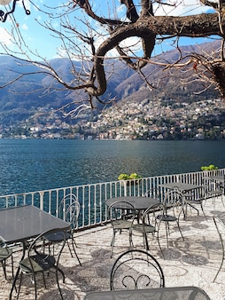 Terrace at lake como