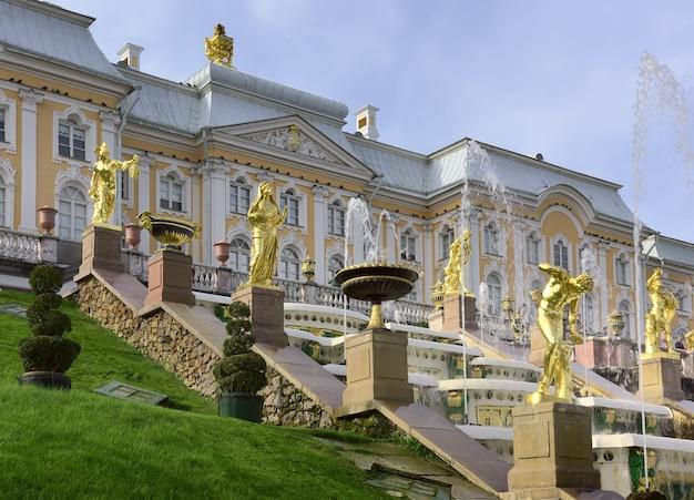 그랜드 팰리스의 테라스 xviii 세기의 러시아 바로크 기념물의 밑면