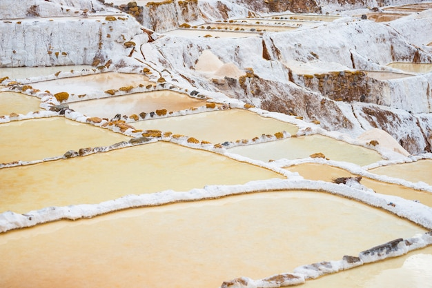 Terraced salt pans.