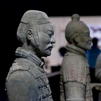 Статуя терракотового воина в музее истории шэньси, сиань, китай