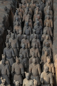 Terracotta warriors is a collection of terracotta sculptures depicting the armies of qin s