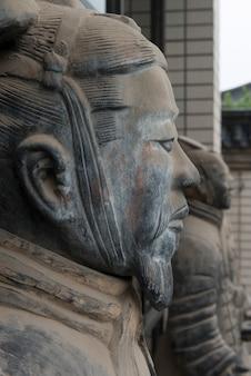 Статуя терракотовых воинов в музее истории шэньси, сиань, шэньси, китай.