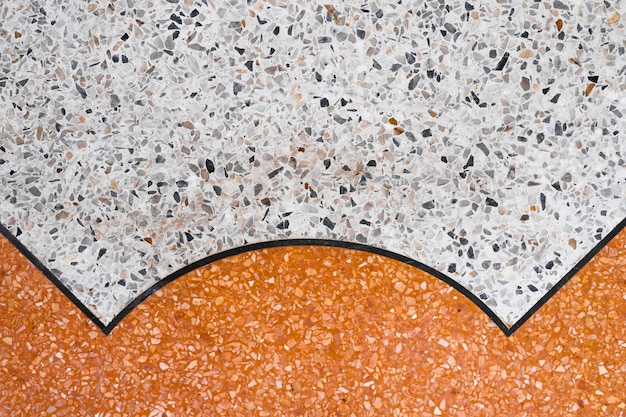 Terrazzo polished stone floor and wall pattern and color surface marble and granite stone