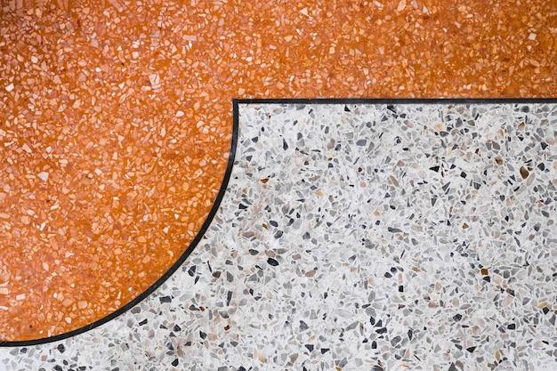 Terrazzo polished stone floor and wall