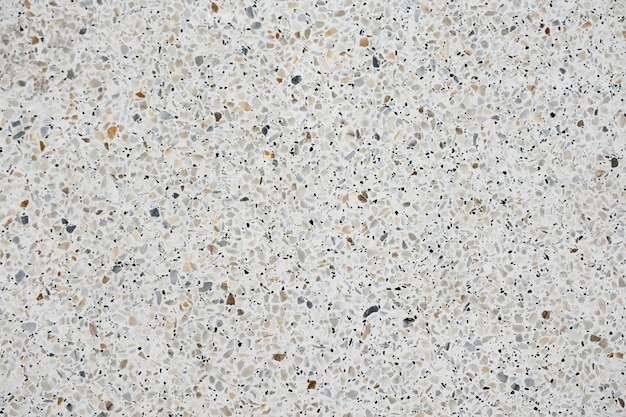 Terrazzo polished stone floor and wall