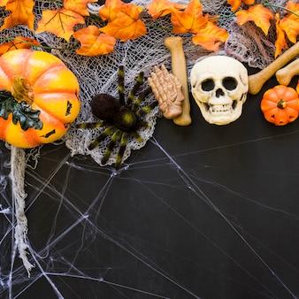 Terrifying halloween background