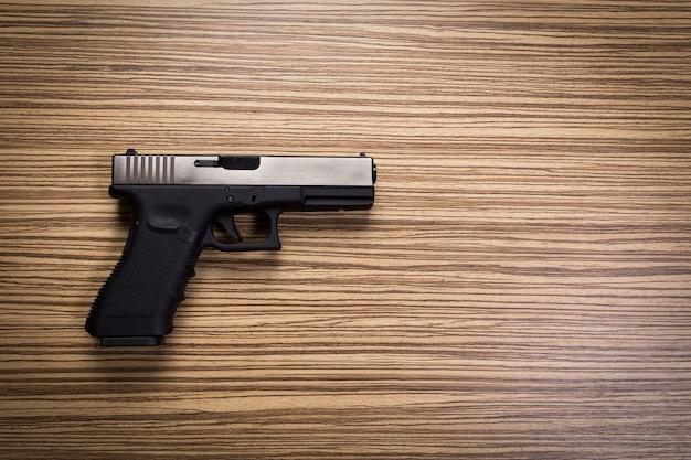 Terrorism . handguns.close up.