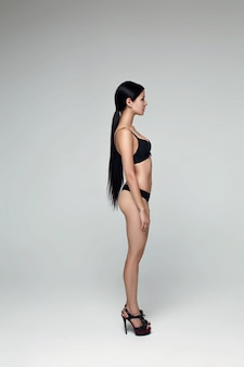 모델 에이전시 .snapshot에 대한 테스트 샷 젊은 모델