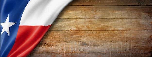 Texas flag on old wood wall , usa. 3d illustration