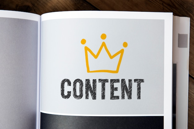 Text content on a book