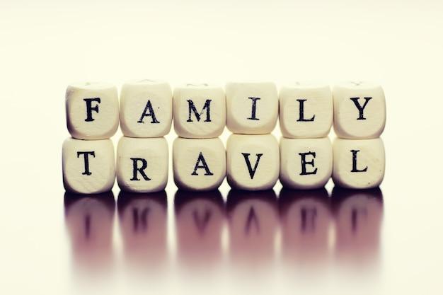 Текстовый куб путешествия семья