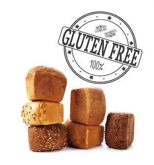 Text gluten free on bread