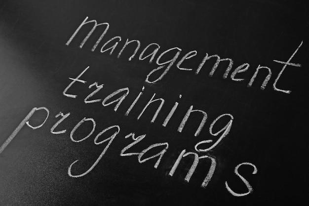 黒板にテキスト管理トレーニングプログラム
