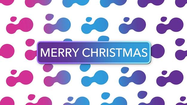 Текст с рождеством и абстрактными геометрическими фигурами, фон мемфис. элегантный и роскошный стиль 3d иллюстрации для делового и корпоративного шаблона