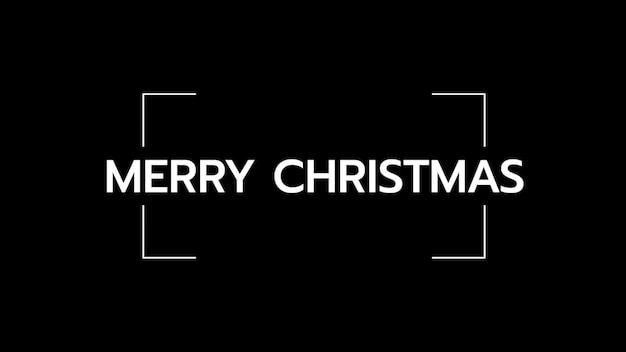 黒のファッションとミニマリズムの背景に線でメリークリスマスをテキストメッセージします。ビジネスや企業のテンプレートのエレガントで豪華な3dイラスト