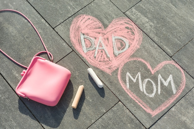 心の中でママとパパにテキストを送信します。