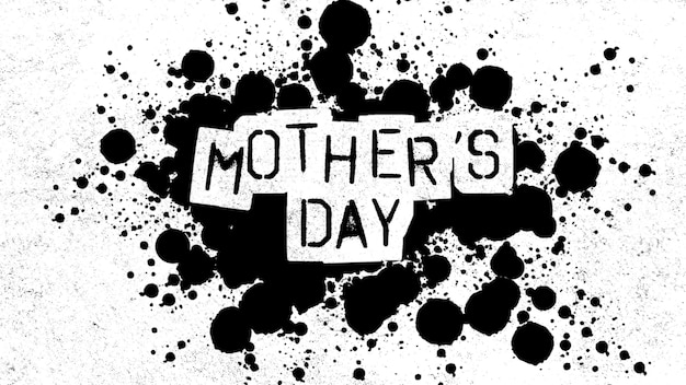 흰색 힙스터와 그런 지 배경에 밝아진 점이 있는 텍스트 어머니의 날. 휴가 및 프로모션 템플릿에 대한 우아하고 고급스러운 스타일의 3d 그림